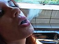 Sara Lee Gives Smoking Head