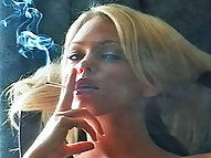 Lonnie Smokes as Her Pussy Drips